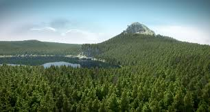 nice forest landscape or 17 billion faces in blender eisklotz