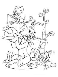 free printable tom jerry coloring pages