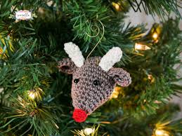 crochet crochet ornaments on knit and crochet
