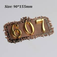 european style house 3 digits european style house number high grade 3d digital cards