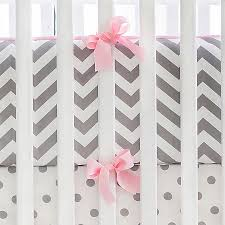 Pink Chevron Crib Bedding Gray And Pink Chevron Crib Bumper Chevron Crib Bumper Gray