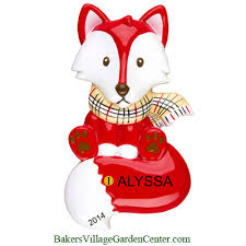 personalized ornaments fox