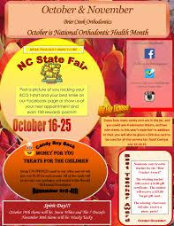 october and november newsletter brier creek orthodontics