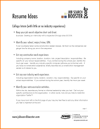 Career Goal Example For Resume by Sample Resume Objectives For Any Job Free Resume Example And