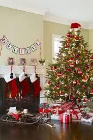santa themed christmas trees christmas lights decoration