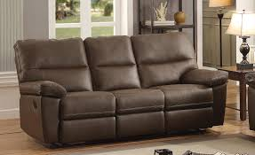 homelegance nell reclining sofa set leather gel match brown