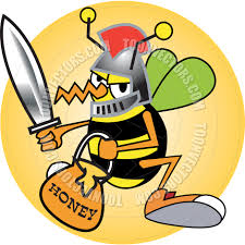 cartoon bee knight vector illustration by clip art guy toon