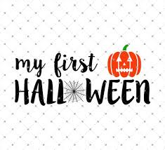 halloween silhouette png svg cut files for cricut and silhouette my first halloween svg