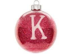 monogram glitter ornament craft ideas