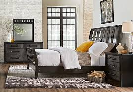 Sleigh Bed Set Bedford Heights Gray 5 Pc King Sleigh Bedroom Transitional