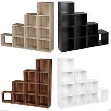 Wooden Bedside Bookcase Shelving Display Wooden Storage Cube Ebay