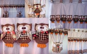 Owl Kitchen Curtains by Cortina Corujinhas Patchwork Owl And Craft