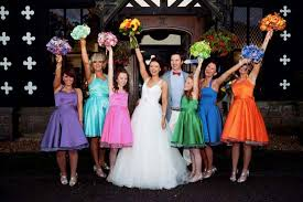 how to mix and match dresses for a mismatched bridal party look