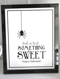 happy halloween sign black and white halloween something sweet print bloom designs