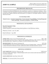 Phlebotomist Job Description Resume by 461 Best Job Resume Samples Images On Pinterest Job Resume