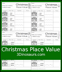 free christmas place value worksheets free homeschool deals
