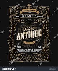 antique frame design western label vintage stock vector 403527526