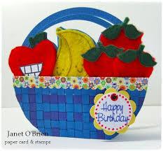 how to make a fruit basket paper card sts fruit basket