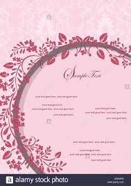 Invitation Card With Photo Vintage Invitation Card With Ornate Elegant Retro Abstract Floral
