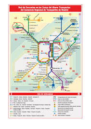 Metro Madrid Map by Escorial 2012