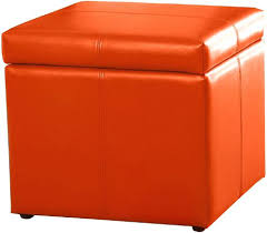 Orange Storage Ottoman Storage Ottoman Orange Teescorner Info
