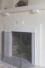 fireplace simple threshold fireplace screen style home design