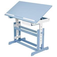 bureau enfnat bureau enfant réglable en hauteur et inclinable tectake