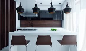 Black Pendant Lights For Kitchen Kitchen Modern Kitchen Idea With Brown And White Theme