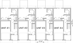 multifamily house plans main floor plan 2 for d 441 multifamily house plans reverse living
