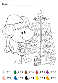 7 best images of christmas addition color by number printables