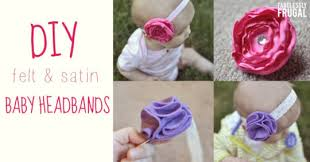baby headband diy how to make baby headbands satin and felt flowers diy for babies