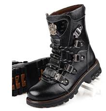 stylish motorcycle boots 2015 sreet top rock punk cool men u0027s fashion motorcycle army boot