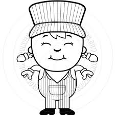 train hat coloring page girl train conductor clipart clipartxtras