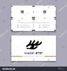 makeup artist business card modern hipster stock vector 486901996