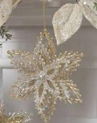 glittered starburst ornaments silver perfectlyfestive