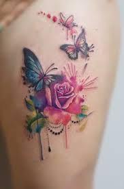 pretty watercolor butterfly watercolor tattoos