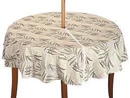 Patio Table Cover With Zipper Wipe Clean Tablecloths Vinyl Oilcloth And Pvc Waterproof