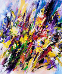 abstract flower paintings related