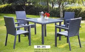 Outdoor Rattan Dining Chairs Outdoor Rattan Dining Set Ds 201 Zebano