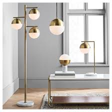 geneva glass globe with marble base task lamp brass lamp only