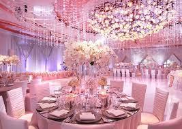 beautiful pink wedding ballroom decoration bridal dress