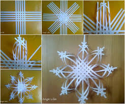 diy 3d paper snowflake ornament