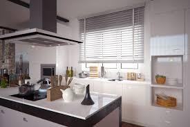 store cuisine une cuisine design et chic avec un store en bois blanc laqué