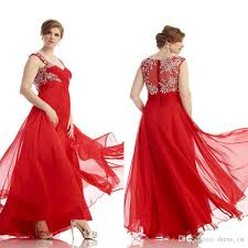 amazing 2016 red chiffon sweetheart prom dresses plus size custom