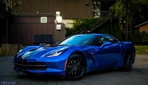 2014 corvette black 2014 3lt z51 laguna blue black stripes all options corvetteforum