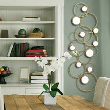 home decor gold tone geometric mirror wall decor
