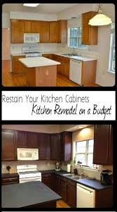 Kitchen Cabinet Diy by Best 25 Restaining Kitchen Cabinets Ideas On Pinterest How To
