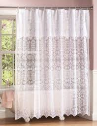 Lace Shower Curtains Sheer Eyelet Shower Curtain Foter