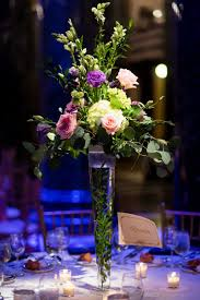 Tall Wedding Reception Centerpieces by Tall Table Centerpiece Of Hydrangea Lisianthus Snapdragon Roses