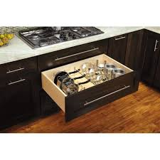 kitchen cabinet drawer peg organizer rev a shelf 7 75 in h x 7 8 in w x 15 2 in d drop in pan